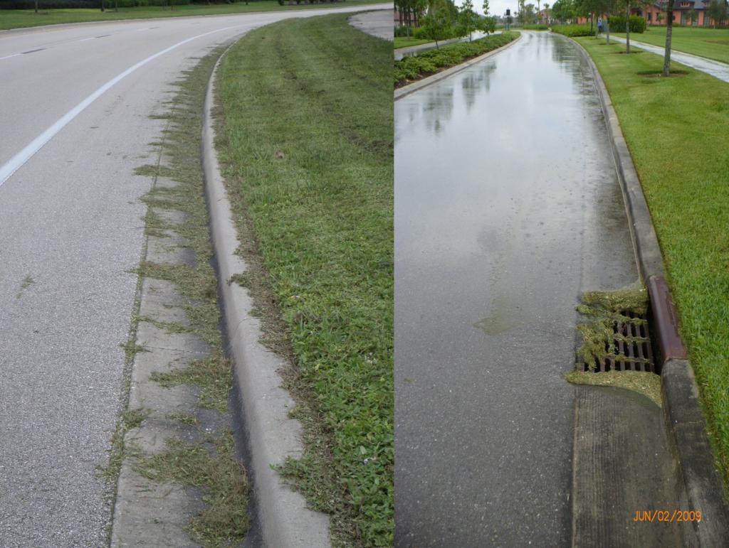 Road way flooding